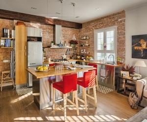 Wood for 60 sqm apartment design