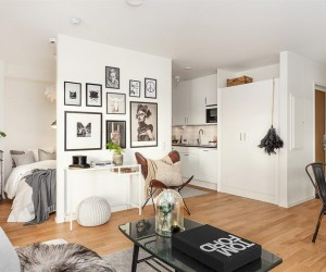 Practical lay-out for a 40 sqm studio