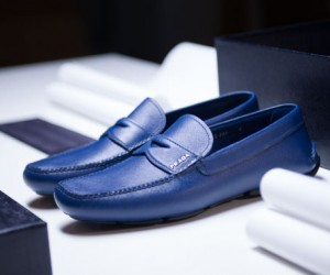 Prada Driving Shoe in Production