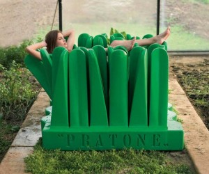 Pratone Lounge Chair by Gufram