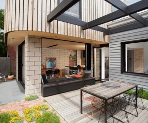 Prefabulous home extension in Melbourne