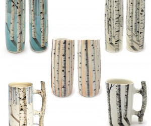 Pretty Painted Porcelain Pieces by Heesoo Lee