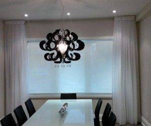 Privacy Screen Roller Shade  Floor-to-Ceiling Sheers