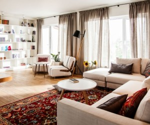Private Apartment Comes Alive Through Eclectic Design