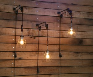 Pulley Mounted Industrial Wall Lights