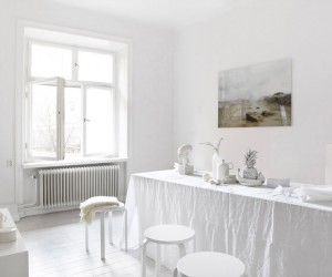 Pure White Apartment in Stockholm