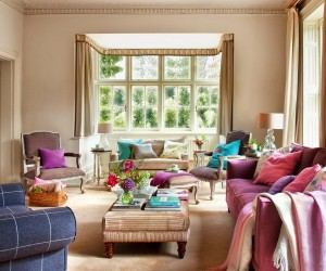 Purple Accents in Beautiful UK Home