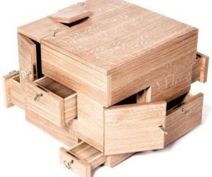 Puzzle Cube: Oak Storage System