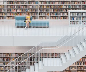 Quite Zone - Stuttgart Municipal Library by Skander Khlif
