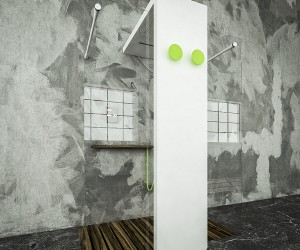 Radiator With Built-In Showerhead