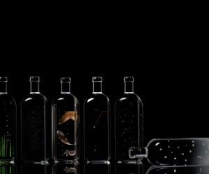 Rain Bottle installation by Nendo at Maison  Objet