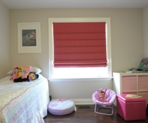 Raspberry Pink Roman Shade by Night and Day Window Decor