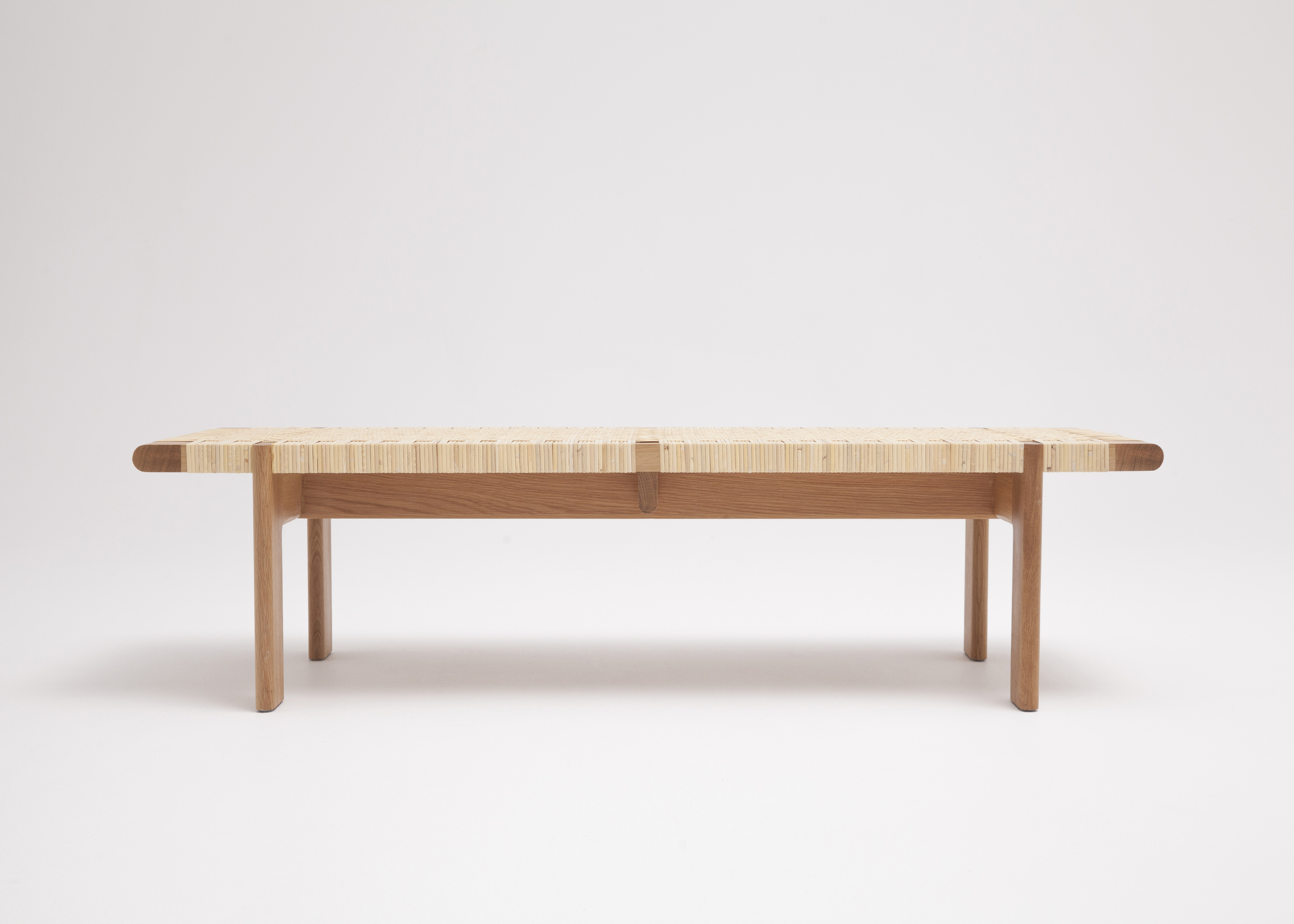 Rattan Bench By Thom Fougere