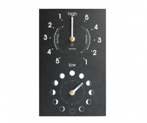Recycled Moon  Tide Clock