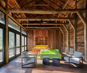 Red Barn at Hazel River Cabin  Bonstra Haresign Architects