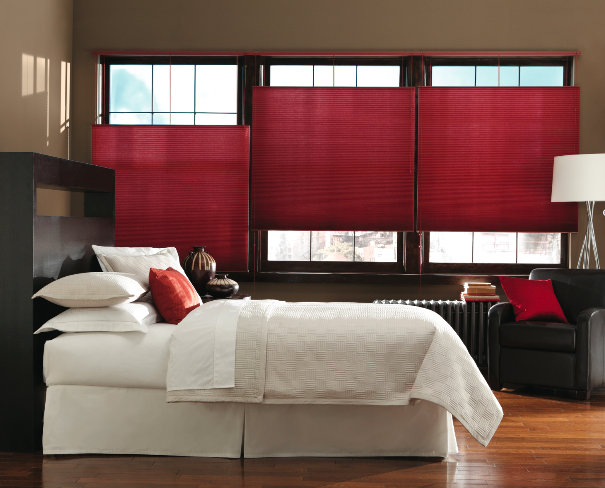 red master bedroom cell shades from
