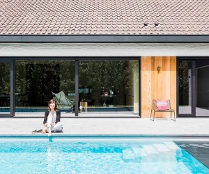 Refined Relaxation 70s Belgian Bungalow Altered into a Minimal Modern Home