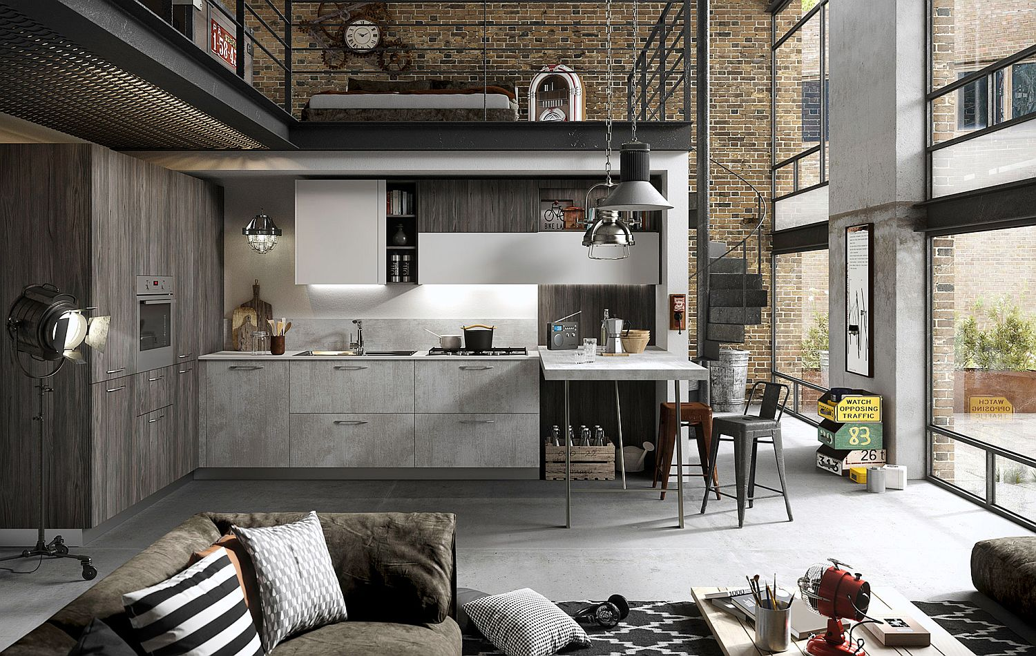 Refined Reliable and Edgy FUN Adaptable Kitchen by Snaidero