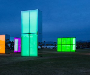 Reflection Field Installation at Coachella by Phillip K. Smith III