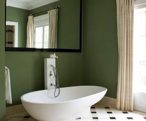 Refreshing Bathrooms with a Splash of Green