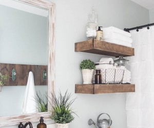 Refreshing Homemade Spring Makeover: Fabulous DIY Bathroom Wall Dcor