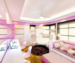 Regency Girls Bedroom Design by I-Dea Catalysts