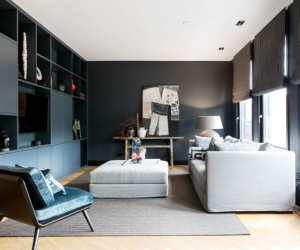 Remodeling of an Old Penthouse, Formerly a School, Into a Private Home
