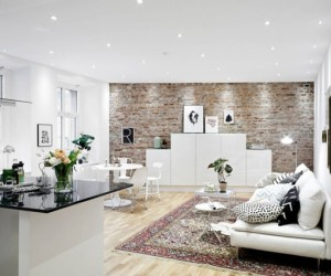 Rendered in Nordic tranquility: modern urban apartment, Sweden