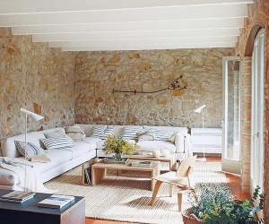Renovated Home with Charming Rustic Interiors in Girona, Spain