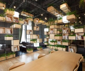 Repurposed cafe design in Beijing