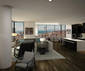 Residential Design Modern Kitchen  Living Interior Developed by Yantram  Architectural Visualisation Studio, Sydney - Australia
