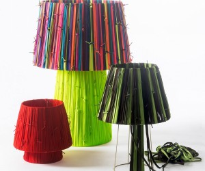 Reviving the reclaimed shoelaces lamps