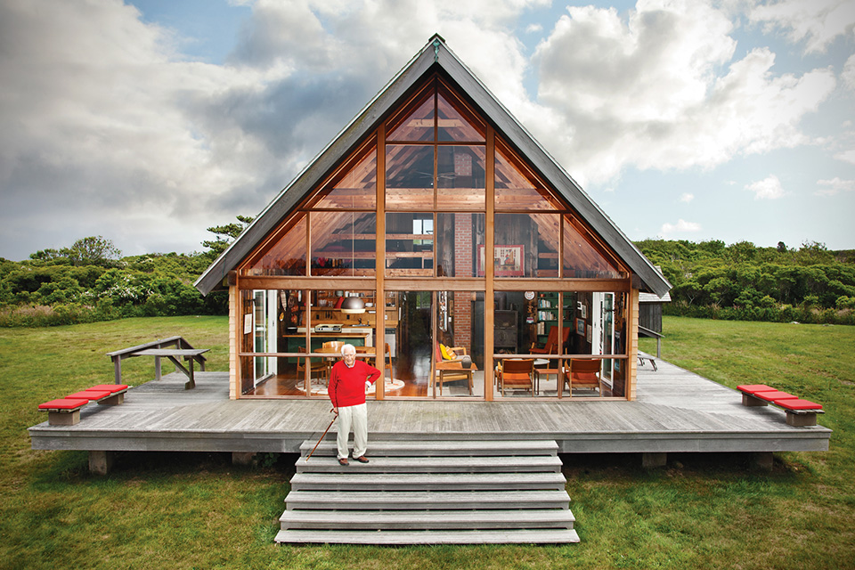Rhode island vacation home jens risom for Block island cottage