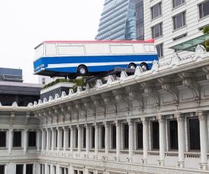 Richard Wilsons Installation at The Peninsula Hotel Hong Kong
