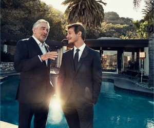 Robert De Niro and McCaul Lombardi for Zegna