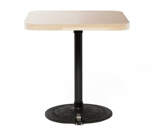 Roll Base with Birch Table Top Square by Tom Dixon