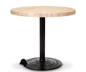 Roll Table Base Birch Round Top by Tom Dixon