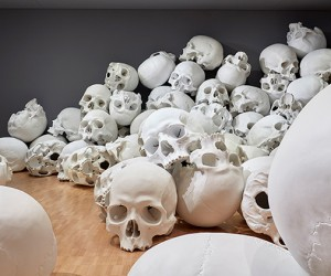 Ron Mueck Installs 100 Giant Skulls At The National Gallery Of Victoria