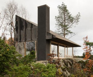 Rones Cabin with a View of the Fjord  SandenHodnekvam Architects