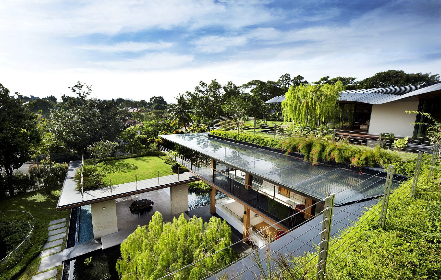 Roof Gardens Bio Pond And A World Of Inviting Green