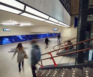 Roosegaarde Space Artwork at Eindhoven Station