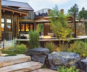 Rough-Luxe Mountain Home in Evergreen, Colorado