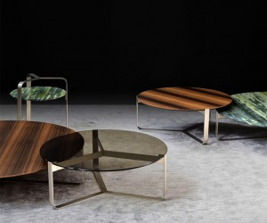 Round side tables YARI Design Massimo Castagna
