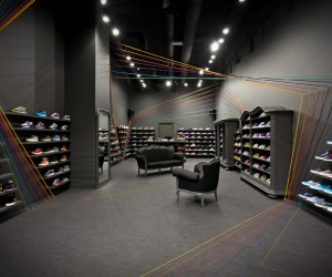 Run Colors sneaker store by Mode:lina Architekci