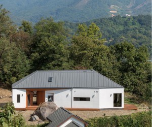 Rural house in the Spectacular Mountains of Gyeonggi-do, South Korea