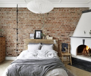 Rustic Accents in a Swedish Apartment