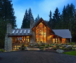 Rustic Contemporary Home Nestled In Secluded Forests Of Washington
