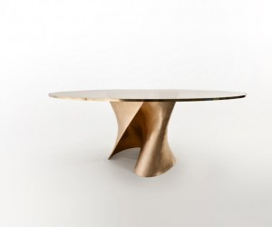 S-Table Bronze by Xavier Lust