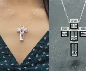 Salvador Dali Cross Necklace - 3D Printing