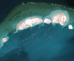 Satellite Photos Show China Building Artificial Archipelago